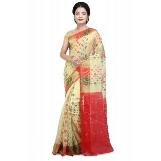 Dhakai jamdani  multicolor saree with multicolor designer  thread  work in all over saree