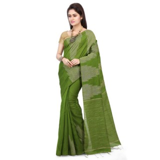 Silk Ghicha Saree in Green