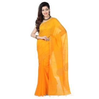 Handloom Silk Ghicha Saree in Yellow