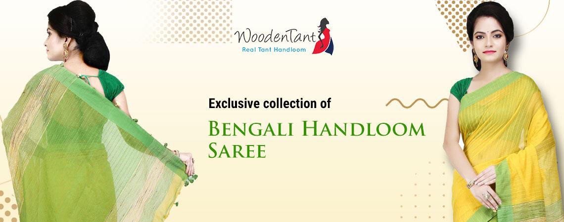 Wooden Tant - Bengali Handloom Saree