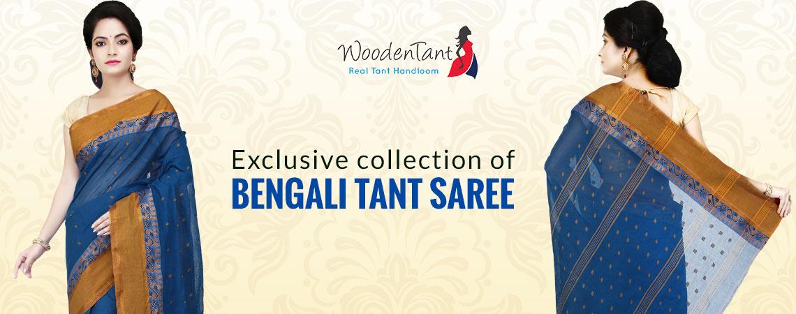 Wooden Tant - Bengali Tant Saree