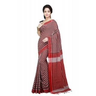 Handloom Soft Cotton Khadi Saree In Multicolor