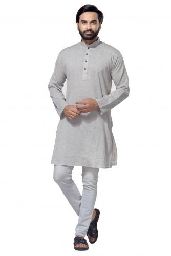 Men's Cotton Khadi Kurta Punjabi in Off-White